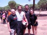 sociedad de los guerreros con mi hija Paula, Oscar y Rodolfo