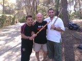 con Bruno y Lázaro en Koredas Camp 2012